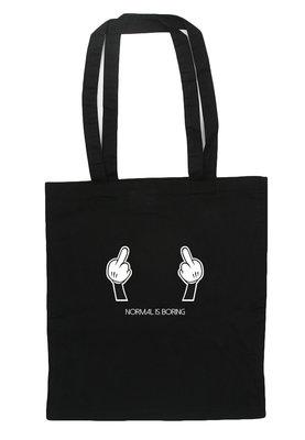 shopping bag fingers
