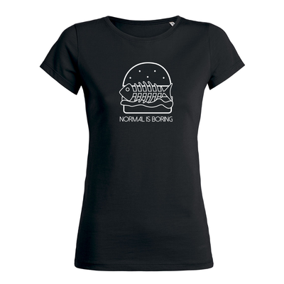 Fish Burger Tee black Women